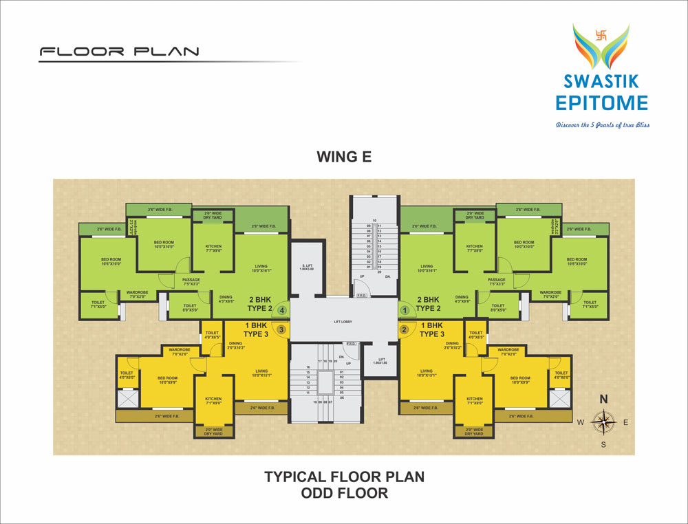 Best residential property flats in virar new housing for Floor plan project